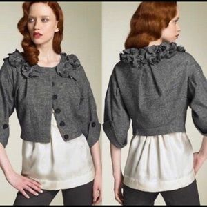 Robert Rodriguez Embellished Cropped Wool Jacket S